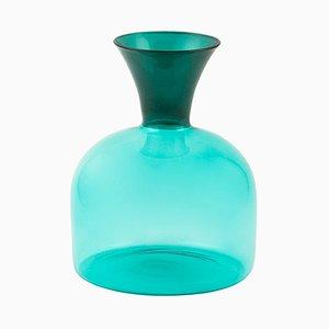 Karaffa grande in vetro soffiato verde di Aldo Cibic per Paola C.