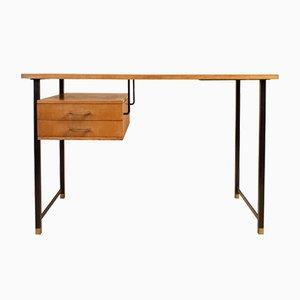Schreibtisch aus Esche & Pfirsichfarbener Formica, 1960er