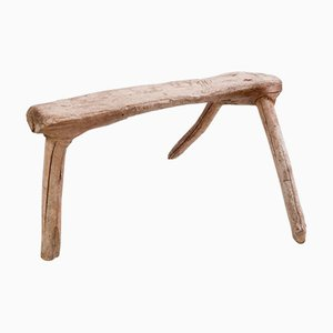 Vintage French Fir Shepherd Stool
