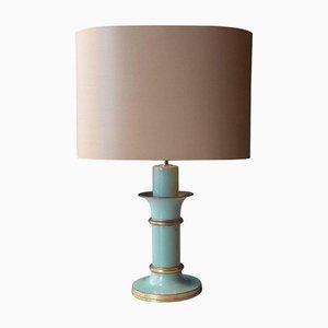 Green Art Deco Table Lamp, 1940s