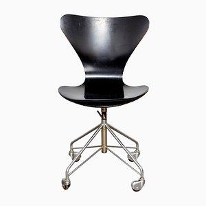 Chaise de Bureau Modèle 3217 par Arne Jacobsen pour Fritz Hansen, 1963
