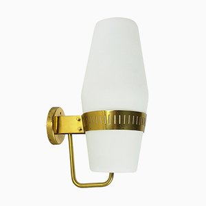 Large Brass & Glass Sconce from Stilnovo, 1959