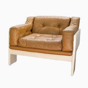 Oriolo Leather Lounge Chair by Claudio Salocchi for Luigi Sormani, 1960s