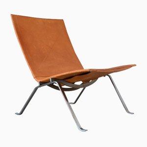 Dänischee PK22 Sessel von Poul Kjaerholm für E. Kold Christensen, 1956