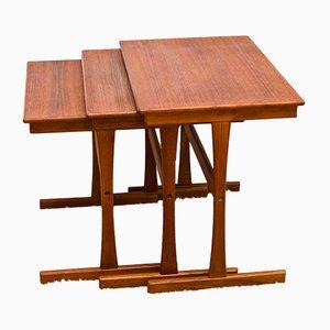 Tavolini a incastro in teak, Danimarca, anni '60