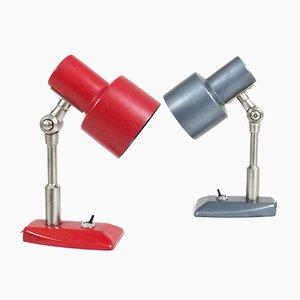Lámparas de escritorio vintage de Stilnovo. Juego de 2