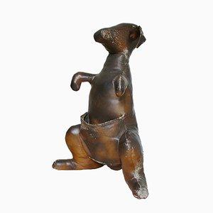 Revistero Abercrombie & Fitch de cuero Kangaroo de Dimitri Omersa, años 60