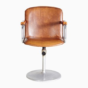 Adjustable Leatherette Swivel Chair, 1970s