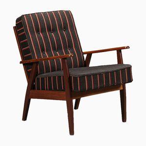 Teak & Wool Armchair, 1960s