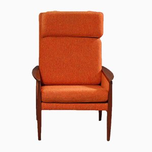 Vintage Orange Mahogany Armchair