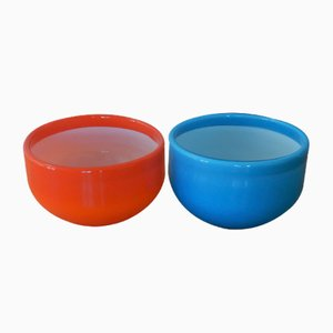 Palet Bowls by Michael Bang for Holmegaard, 1970s, Set of 2