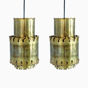 Lampes à Suspensions Brutalistes par Svend Aage Holm Sorensen, 1960s, Set de 2