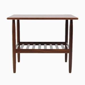 Danish Teak Veneer Side Table, 1960s