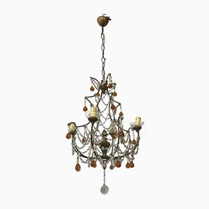 Vintage Italian Crystal Beaded Chandelier