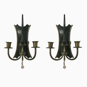 Vintage Italian Art Deco Style Sconces, Set of 2