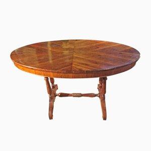 Table Ovale du 19ème Siècle en Noyer
