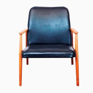 Leatherette Armchair, 1950s