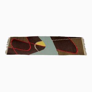 Schmaler Vintage Teppich mit geometrischem Muster, 1960er