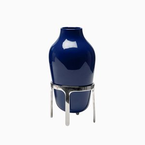 Medium Titus II Blue Ceramic Vase by Jaime Hayon for Paola C.