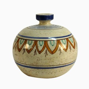 Jarrón de cerámica de Magnanelli Gubbio, años 50