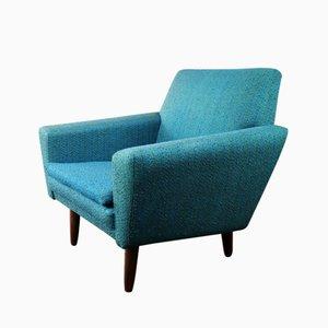 Danish Armchair with Teak Turned Legs, 1970s
