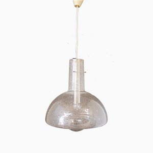 Mid-Century Glas Deckenlampe von Temde Leuchten Detmold