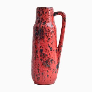 Mid-Century Fat Lava Handled Vase from Scheurich