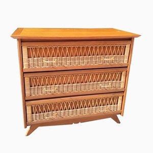 Vintage Rattan Dresser, 1960s