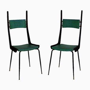 Italienische Mid-Century Beistellstühle, 1950er, 2er Set
