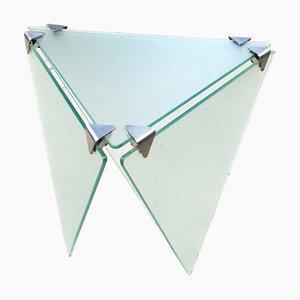 Mesa italiana Art Déco de vidrio con pedestal