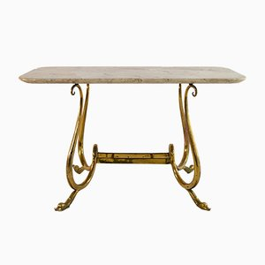 Table Cocktail Mid-Century avec Pieds Cygne, Italie
