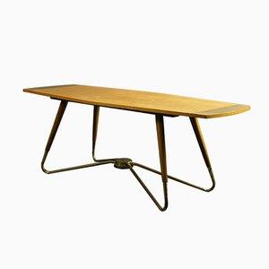 Tavolino da caffè con struttura in ottone di Ilse Furniture, Germania, anni '50