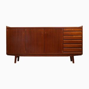 Abstrakta Mahogany Sideboard by Jos De Mey for Van den Berghe Pauvers, 1950s