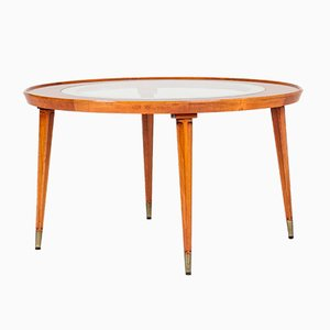 Swedish Modern Mahogany Coffee Table, 1940s