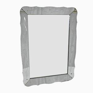 Specchio Mid-Century con cornice specchiata, anni '50