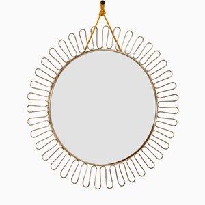 Mid-Century Brass Sun Mirror by Josef Frank, 1950s