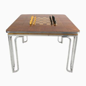 Vintage Bauhaus Chess Table