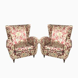 Mid-Century Italian Armchairs, 1950s, Set of 2