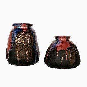 Sardinische Vintage Keramik Vasen von Claudio Pulli, 2er Set