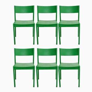 Grüne Mid-Century Modern Esszimmerstühle von Carl Auböck für E.& A. Pollack, 1950er, 6er Set