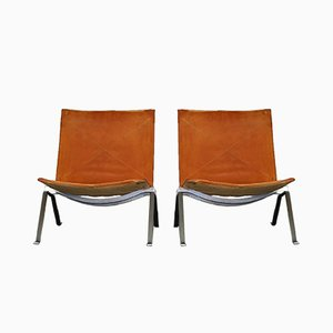 PK22 Lounge Chairs by Poul Kjærholm for Fritz Hansen, 1991, Set of 2