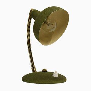 Italienische grüne Vintage Schreibtischlampe, 1950er