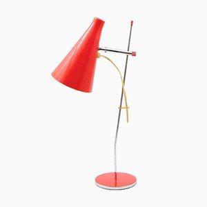 Lampe de Bureau Model L117 Rouge par Josef Hurka pour Lidokov, 1960s