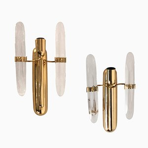 Mid-Century Modern Wall Sconces by Gaetano Sciolari, Set of 2