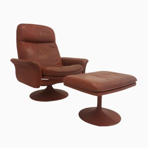 DS-50 Lounge Chair with Ottoman from de Sede, 1970s