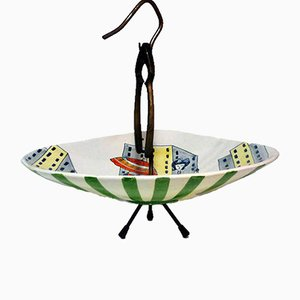 Ceramic Dried Fruit Stand from Rometti, 1950s