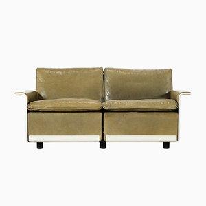 Modell RZ 62 2-Sitzer Leder Sofa von Dieter Rams für Vitsœ, 1970er