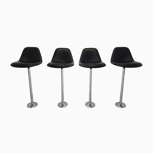 Vintage Barstools by Charles & Ray Eames for Vitra, 1980s, Set of 4