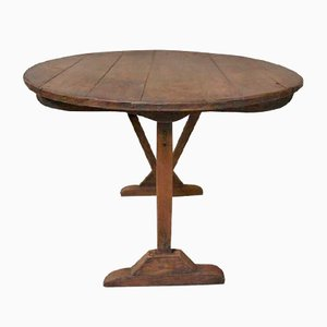 Antique Pine Wine Tasting Table