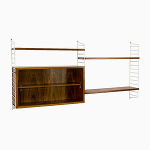 Vintage Walnut Veneer Wall Unit by Katja & Nisse Strinning for String